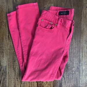 J.Crew Hot Pink Toothpick Ankle Jeans Size 27